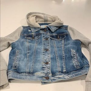 Girls combo Jean/sweatshirt jacket